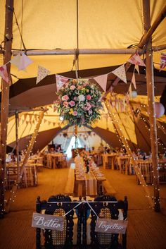 Better Together our sweet heart table is a romantic alternative to the traditional top table. Time to sit together and enjoy your first meal together as a married couple. Hanging above is this stunning floral display by image by Country Wedding Groomsmen, Country Wedding Cakes, Rustic Wedding, Garden Party Wedding, Wedding Table, Garden Parties, Tipi Wedding Inspiration, Wedding Ideas, Wedding Trends