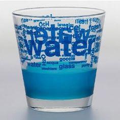 6 Verres à eau serigraphié acqua bleu 25cl - TABLE PASSION - Verre