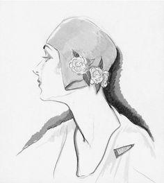 Digital Art - Illustration Of A Woman Wearing A Hat by Porter Woodruff , Vintage Vogue Fashion, Moda Vintage, Vintage Floral, Paris Mode, Mode Chic, Wearing A Hat, Fashion Project, Giclee Print, Illustration Art