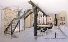 Drawing Architecture Perspective Sketch Ideas For 2019 Drawing Interior, Interior Rendering, Interior Architecture, Interior Design, Drawing Architecture, Modern Interior, Architect Logo, Architect House, Famous Architects