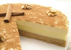 Tarta de queso y crema pastelera a la canela - MisThermorecetas.com