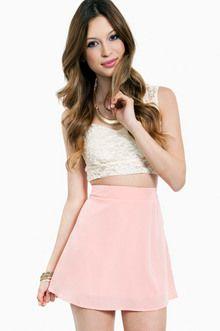 4ec12796cde Around The Globe Skirt in Peach Light Pink Skirt