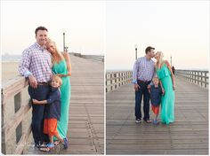 Seal Beach Pier family photos, turquoise, navy, sand, pier, sunset Orange County Family Photos | Asea Tremp Photography