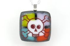 Awesome! Fused Glass Pendant