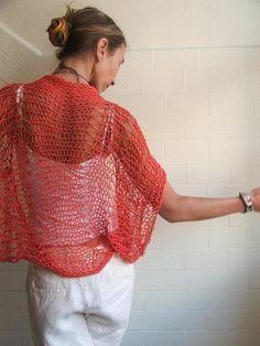 Tangerine Dreams pure cotton shrug Ltd Edition by ileaiye on Etsy,