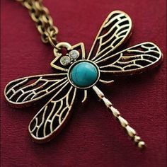 Vintage Jewelry Retro Hallow Dragonfly Necklace Brand New - All orders will be shipped the same day! Comes packaged! Jewelry Necklaces