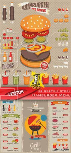 I like the visuals in this menu Menu Design, Food Design, Food Packaging, Packaging Design, Hamburger Menu, Information Visualization, Pinterest Instagram, Burger Restaurant, Information Design