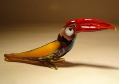 "Blown Glass ""Murano"" Art Animal Figurine Small Colorful Toucan Bird   -  nature, wildlife, outdoors.  this seller has some nice figurines, ornaments, etc., but the colors seem more washed out than the russian ones.        lj"