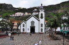 """Ribiera Brava, Madeira. the local church """"Igreja de São Bento"""", considered over…"""
