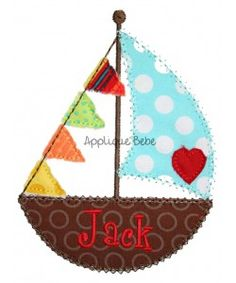 Love Boat Applique - Sailboat