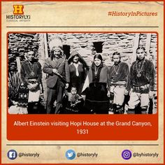 #HistoryInPictures Albert Einstein Visiting Hopi House At The Grand Canyon, 1931. #History #Science #Vintage #Classics