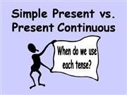 simple present vs. present continuous
