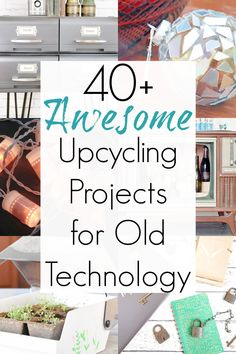 Old technology (and their accompaniments) , such as cassette tapes, telephone tables, and tube TVs, are a common site at thrift stores and antique malls. And while some are perfect for using as retro decor, others are better for upcycling. So, if you've been hungry for repurposing projects that use old technology, then maybe this will inspire you! #oldtech #VHStapes #oldtechnology #cassettetapes #typewritertables #CDcrafts #cassettecrafts #VHScrafts Vhs Crafts, Just Do It, How Are You Feeling, Telephone Table, Old Technology, Old Computers, Upcycle, Reuse, Vhs Tapes