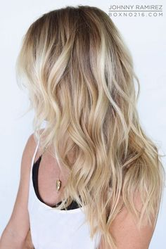 Beach Blonde Hair Color Beach Blonde Hair, Cool Blonde Hair, Beachy Hair, Cool Hair Color, Sun Kissed Highlights, Caramel Highlights, Blonde Highlights, Ramirez Tran Salon, Blonde Color