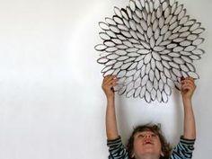 2 idées récup pour décorer les murs avec de vieux rouleaux