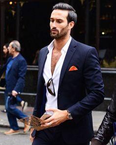 "Men's Fashion Post on Instagram: ""Open collar or not? Comment below⤵️ Follow @mensfashion @mensfashion"""