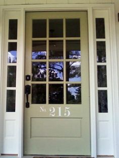 Cottage-Style Door w/ Decal Numbers. So pretty! http://www.hgtv.com/designers-portfolio/room/country/outdoors/9293/index.html#/id-5853?soc=pinterest
