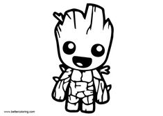 Baby Groot Coloring Page Nemo Coloring Pages, Jesus Coloring Pages, Avengers Coloring Pages, Marvel Coloring, Dragon Coloring Page, Dog Coloring Page, Coloring Sheets For Kids, Coloring Pages For Kids, Coloring Books