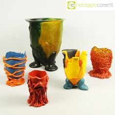 Vaso Indian Summer Large by Gaetano Pesce for Fish Design | Vases ...