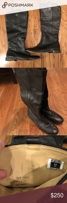 Frye Riding Boots Frye Paige Tall Riding Boots. Basically brand new. Only worn a few times. Black and size 9.5! Frye Shoes Winter & Rain Boots