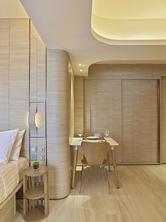 slho   Architecture Modern Interior Design, Interior Architecture, Hotel Room Design, Curved Walls, Hospital Design, Minimalist Apartment, Hotel Interiors, Ceiling Design, Apartment Design