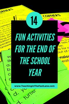 You've made it to the end of the school year, now what? Check out this post with 14 ideas for what to do in the last weeks of school! Cult Of Pedagogy, End Of School Year, Now What, The End, Upper Elementary, Fun Activities, Student, Letters, Teaching