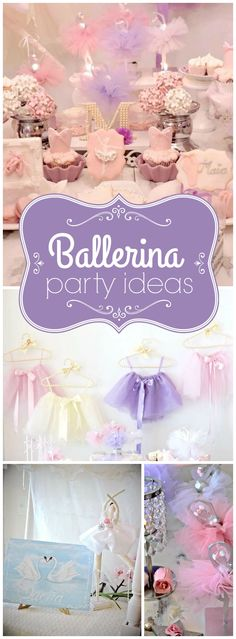 What a pretty pink and purple ballerina birthday party! See more party ideas at CatchMyParty.com!