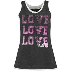 Chicago Cubs Concepts Sport Women's Crush Layered Tank Top - Charcoal