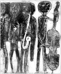 Jean Dubuffet: Jazz band Art Informel, Jean Dubuffet, Jazz Poster, Etching Prints, Collages, Art Brut, Art Graphique, Outsider Art, Linocut Prints