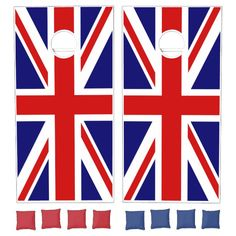 Union Jack Flag of the UK Cornhole Set Outdoor Party Games, Backyard Games, Outdoor Fun, Flag Game, Bean Bag Games, Cross Beam, Cornhole Game Sets, Jack Flag, Flags Of The World