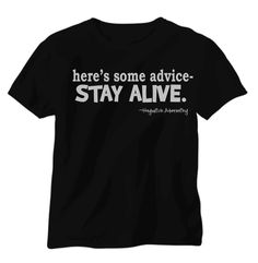 The Hunger Games Shirt Here's some adviceStay by DreamDesignShop, $17.00