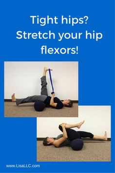 Lots of sitting can lead to short, tight hip flexors. Click through for more stretching tips.