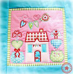 Der Stickbär   Designs und Inspiration Machine embroidery Block of the Month 1