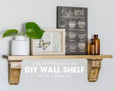 Wall shelves make my organizing heart go pitter patter. They quickly free up surface space by going vertical, and they are also a wonderful ...