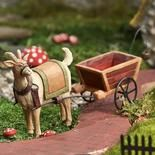 Miniature Resin Billy Goat and Pull Cart Figurine - Fairy Garden Supplies - Dollhouse Miniatures - Doll Supplies - Craft Supplies Fairy Garden Supplies, Garden Tools, Fairy Figurines, Fairy Land, Wheelbarrow, Miniature Dolls, Faeries, Gnomes, Animals And Pets