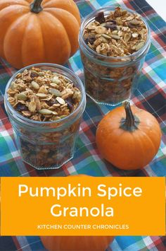 Seriously so yummy! A simple recipe for pumpkin spice granola...with cranberries, maple syrup, almonds and more. #granolarecipe #pumpkinspicerecipe #pumpkinspicegranola #kitchencounterchronicles #breakfastcereal Cooking With Kids, Fun Cooking, Healthy Cooking, Pumpkin Recipes, Fall Recipes, Kids Meals, Easy Meals, Delicious Desserts, Dessert Recipes