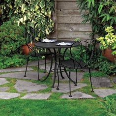 Impromptu Table for Two: A bistro set is inexpensive and small enough to fit on a tiny patio. Choose sturdy but lightweight sets for maximum movability. Similar to shown: Venice Outdoor Cafe/Bistro Set, about $171;