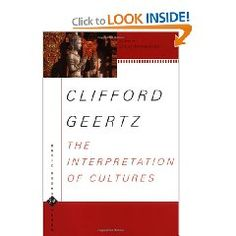 The interpretation of cultures selected essays by clifford geertz