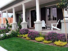 love the purple bushes