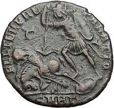CONSTANTIUS II Constantine the Great son Ancient Roman Coin Battle Horse i55575