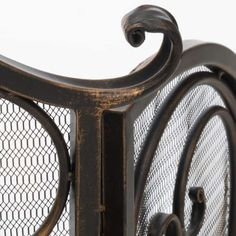 Shop Christopher Knight Home Kingsport Fireplace Screen - On Sale - Overstock - 9573632 - Gold Flower on Black Stone Fireplace Surround, Fireplace Screens, Christopher Knight, Gold Flowers, Home Decor Outlet, Wrought Iron, Door Handles, Home And Garden, Pets