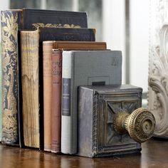 I love old books & doornobs!