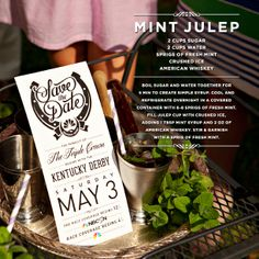 Mix up your Kentucky Derby Party with this Mint Julep Cocktail Recipe and tune in to the race May 3, 2014 on NBC #KentuckyDerby #mintjulep #cocktails #KentuckyDerbyParty http://www.nbcsports.com/kentucky-derby-all-access