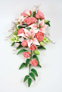 Sugar flowers bouquet.