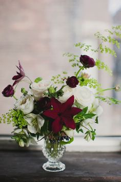 clematis + roses + maidenhair fern ~ photographer: Vicky Starz Photography || event styling and flowers: Lisa Collins of Sweet Woodruff