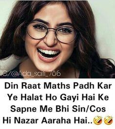 Haaaaaan yaaar Exam Funny Pics, Exam Quotes Funny, Exams Funny, Exams Memes, Funny School Jokes, School Humor, Funny Jokes, Hilarious, Crazy Girl Quotes