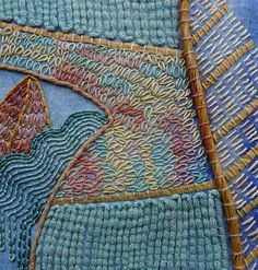 Hand Stitching by Fi@84. I like seeing large patches of stitches; you get a much better idea of how they look on fabric.