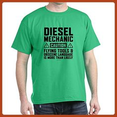 CafePress - Diesel Mechanic Caution - 100% Cotton T-Shirt - Careers professions shirts (*Partner-Link)