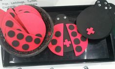 LADYBUG MATH - cute idea for a Math center about addiction facts