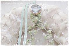 Adventskranz Türkranz ~* Silber *~ Shabby Chic von Wohngeschichten von K. auf DaWanda.com